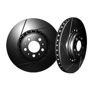 Picture of CHROMEBRAKES SLOTTED BLACK Front Rotor