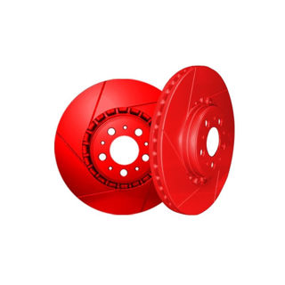 Picture of 2013 chrysler 300 chromebrakes slotted red rear rotor