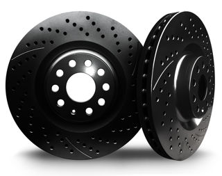 Picture of 2016 cadillac escalade chromebrakes drilled and slotted black front rotor