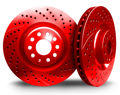 Picture of CHROMEBRAKES DRILLED AND SLOTTED RED Front Rotor