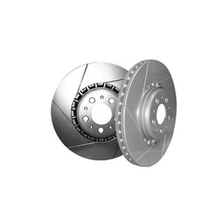 Picture of CHROMEBRAKES SLOTTED SILVER Front Rotor