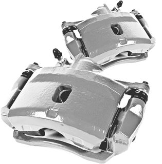 Picture of 1986 acura integra brakeworld powder coated replacement calipers silver rear right
