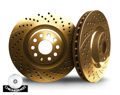 Picture of CHROMEBRAKES DRILLED AND SLOTTED GOLD Front Rotor