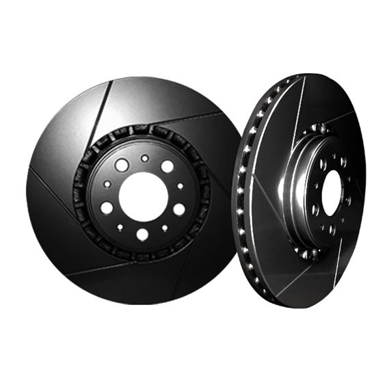 Picture of 2004 acura el chromebrakes slotted black front rotor