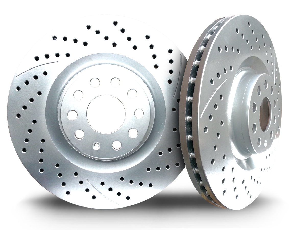 Picture of 2009 chrysler 300 chromebrakes drilled and slotted silver front rotor