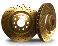 Picture of 1987 acura integra chromebrakes drilled and slotted gold front rotor