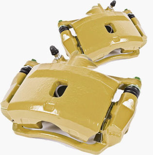 Picture of 1986 acura integra brakeworld powder coated replacement calipers gold front left