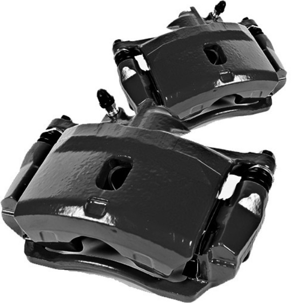Picture of 1988 acura integra brakeworld powder coated replacement calipers black front right