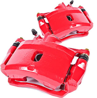 Picture of 1965 chevrolet corvette brakeworld powder coated replacement calipers red front left