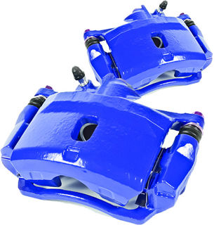 Picture of 1987 acura integra brakeworld powder coated replacement calipers blue front left