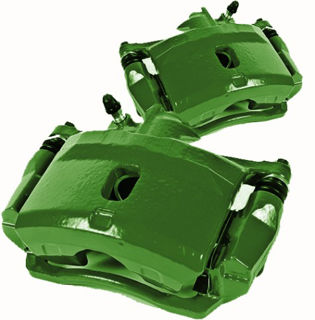 Picture of 1965 chevrolet corvette brakeworld powder coated replacement calipers green front left