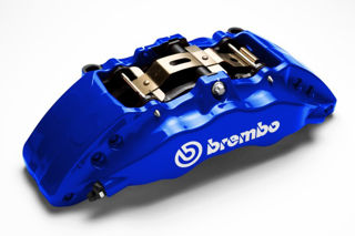 Picture of 2014 chrysler 300 brembo performance brake calipers blue front left