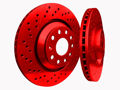 Picture of 1965 chevrolet corvette chromebrakes drilled and slotted red front rotor