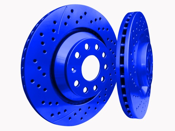 Picture of 2001 acura cl chromebrakes drilled and slotted blue rear rotor
