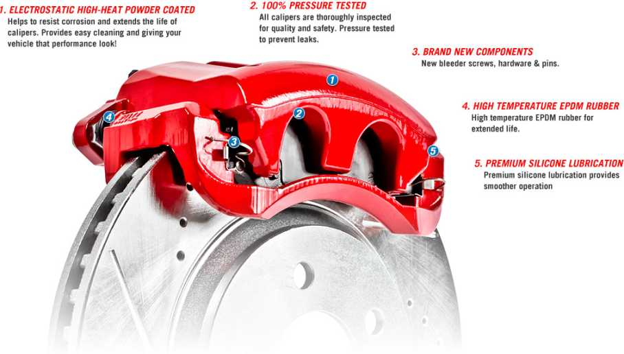 Picture of 1965 chevrolet corvette brakeworld powder coated replacement calipers red front right